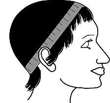 Head Measurement for Wig - Circumference