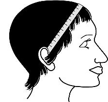 Head Measurement for Wig - Ear to Ear Across the Forehead