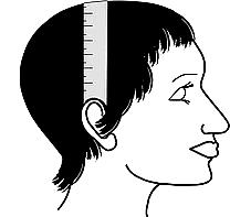 Head Measurement for Wig- Ear to Ear Over the Top