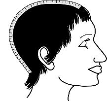 Head Measurement for Wig - Front to Nape