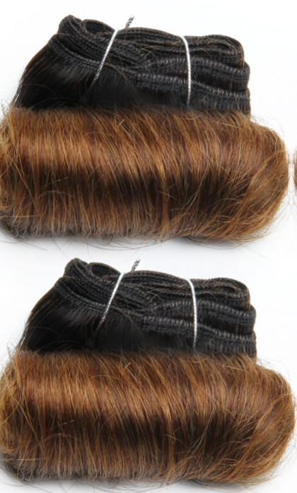 Bouncy-curly-honey-brown-ombre-color-hair-bundles