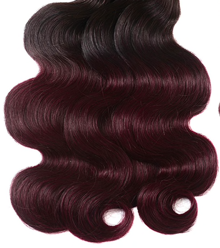 Super-double-drawn-body-wave-burgundy-ombre